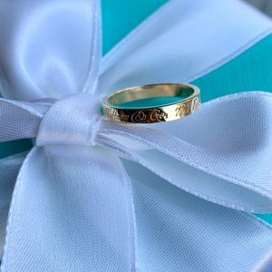 18K Gold Tiffany & Co. Notes Ring